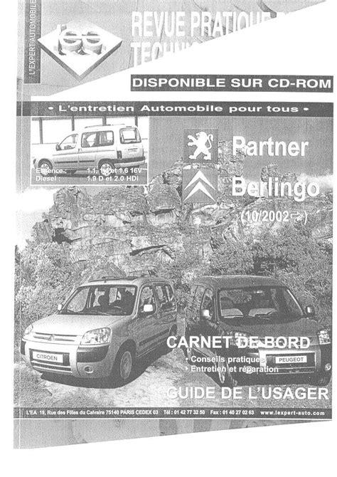 Workshop Manual Citroen Berlingo Pdf (ePUB/PDF)