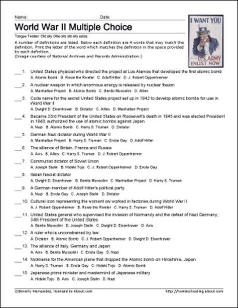 Ww2 Matching Questions.pdf - Wiring Diagram Sheet on