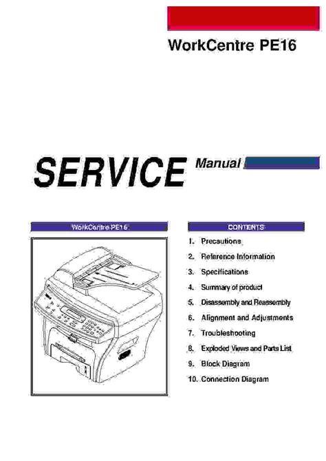 Xerox Printer Service Manual (ePUB/PDF)