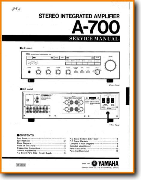 Yamaha Amplifier Manual (ePUB/PDF)
