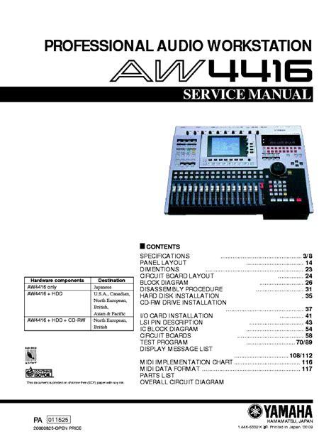 Yamaha Aw4416 Service Manual (ePUB/PDF)