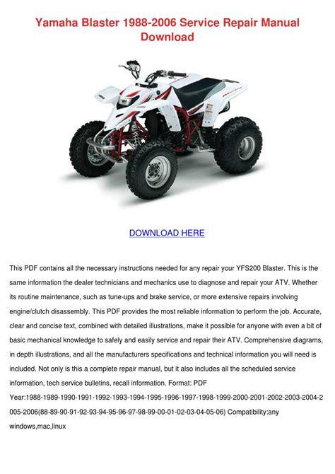 Yamaha Blaster Service Manual Free (ePUB/PDF)