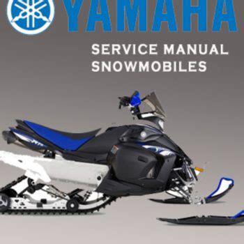 Yamaha Et340tg Ec340g Snowmobile Workshop Service Repair