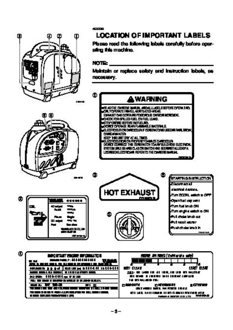 Yamaha Generator Owners Manual (ePUB/PDF)
