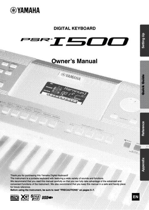 Yamaha Keyboard User Manuals (ePUB/PDF) Free