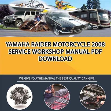 Yamaha Raider Service Manual Free (ePUB/PDF) Free