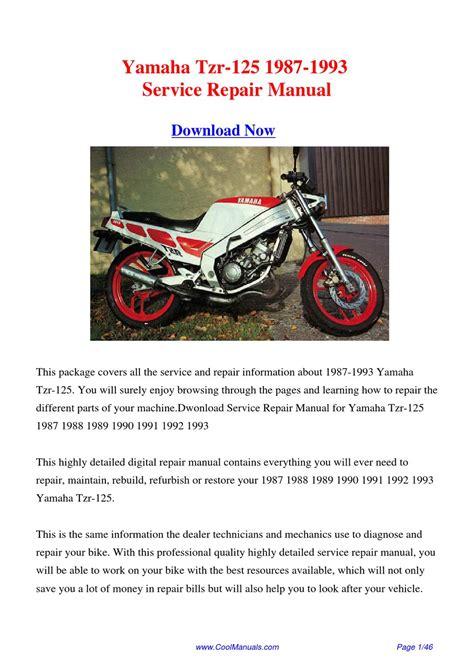 Yamaha Tzr125 Service Repair Manual 1987 1993 (ePUB/PDF) Free