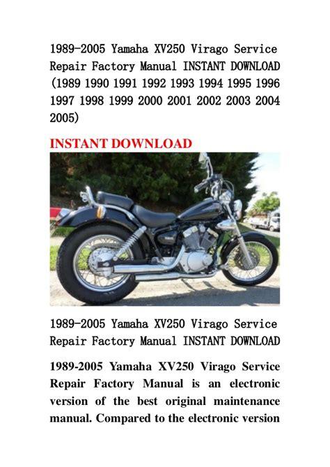 Yamaha Xv250 Factory Repair Service Pdf Manual (ePUB/PDF) Free