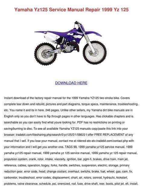 Yamaha Yz125 Full Service Repair Manual 2008 (ePUB/PDF)