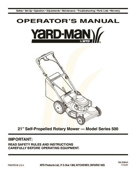 Yardman Lawn Mower Repair Manual (ePUB/PDF) Free