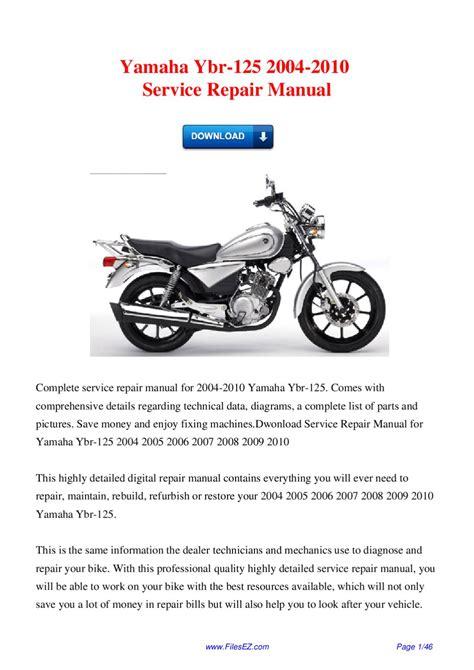 Ybr 125 Service Manual (ePUB/PDF) Free
