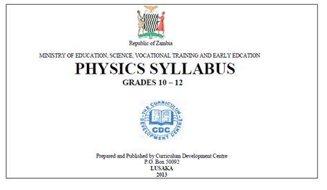 Zambian Physics Syllabus (ePUB/PDF)