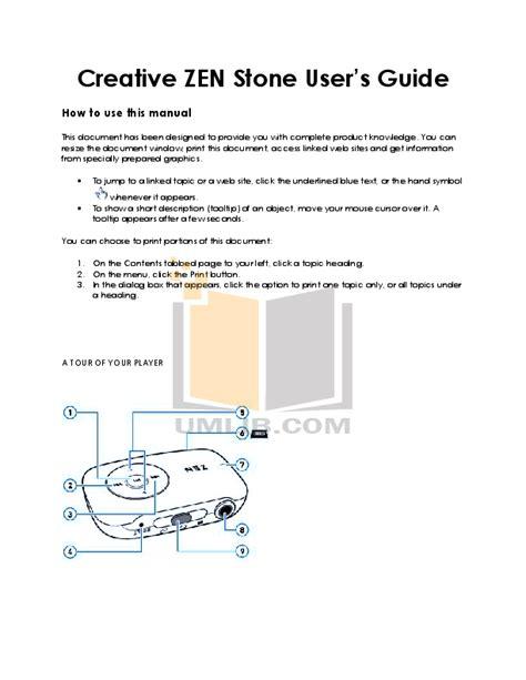 Zen Mp3 Instruction Manual (ePUB/PDF) Free