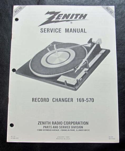 Zenith Service Manuals (ePUB/PDF)