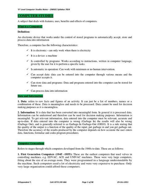Zimsec Syllabus For O Level Maths 2015 (ePUB/PDF)