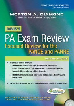 Daviss Pa Exam Review Focused Review For The Pance And Panre