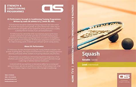 Ds Performance Strength Conditioning Training Program For Squash Stability Intermediate English Edition