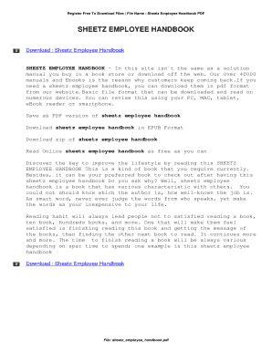 Sheetz Employee Handbook Online | Top Book Collection